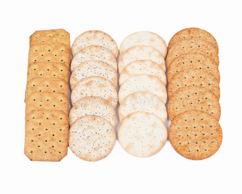 Assortment of crackers royalty free stock images