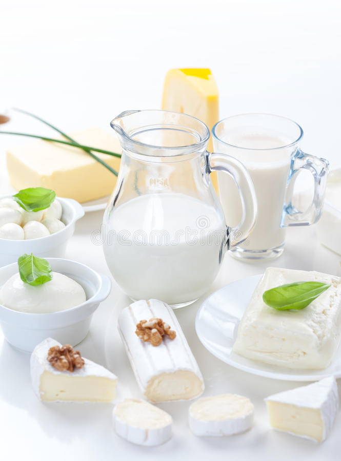 Assortment of dairy products royalty free stock image