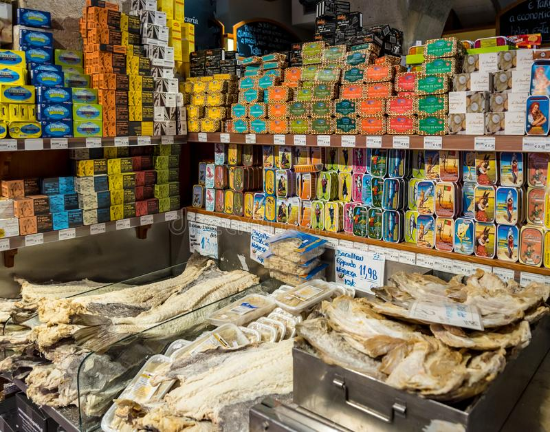 Market in the centre of Lisbon, Portugal royalty free stock images