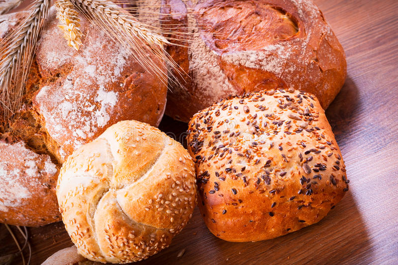 Download Assortment of fresh bread stock photo. Image of closeup - 33869472