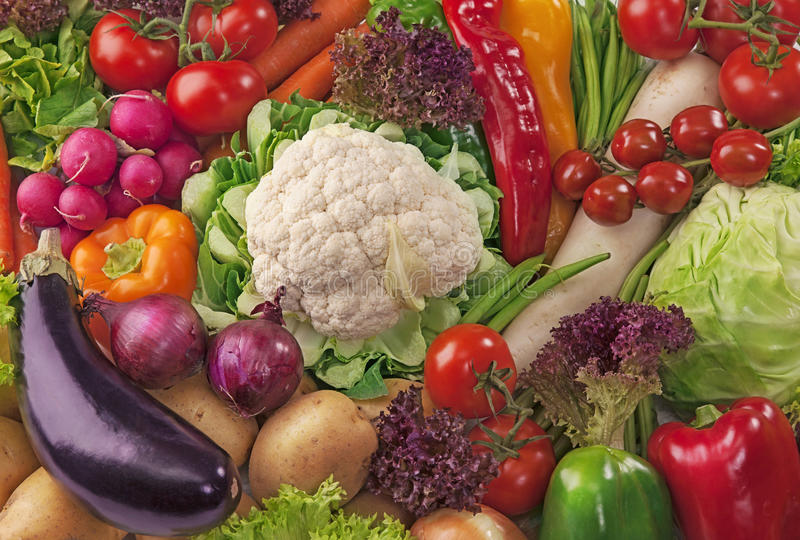 Assortment of fresh vegetables. Close up stock photos