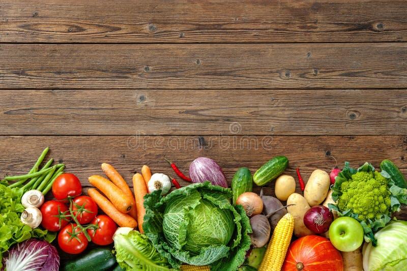 Assortment of fresh vegetables stock photos