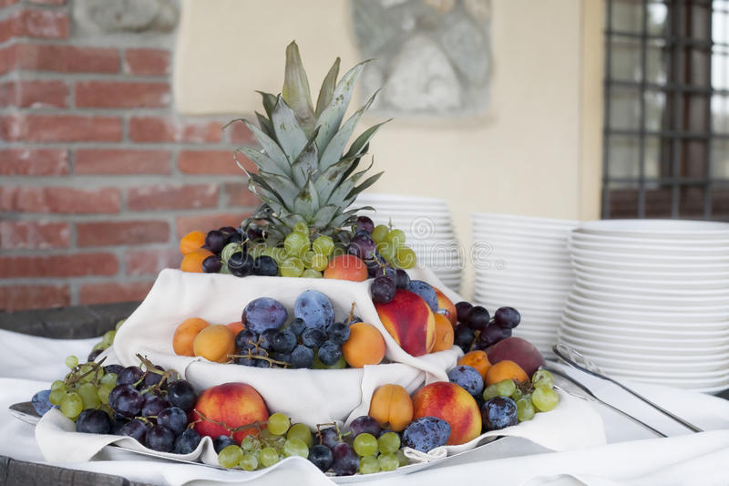 Assortment of fruits stock images