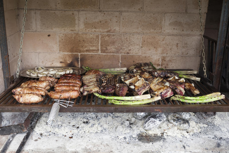 Assortment of grilled meat royalty free stock photo