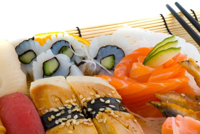 Assortment of Japanese Sushi stock photo