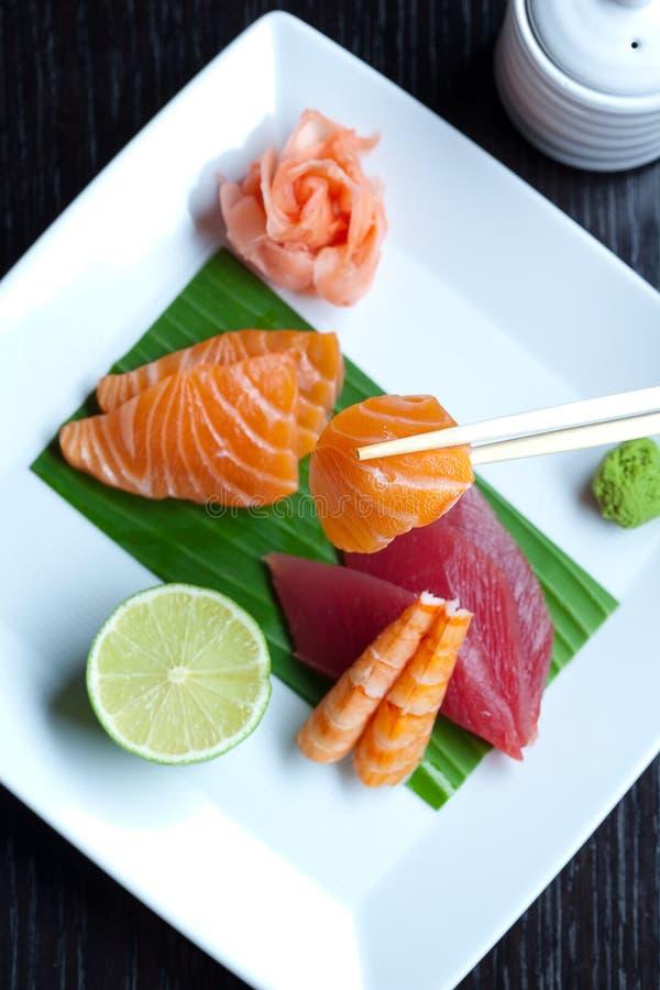 Assortment Of Japanese Sushi Royalty Free Stock Photography