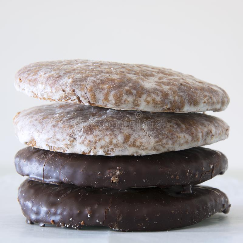 An assortment of Lebkuchen or Gingerbread in Germany stock photo