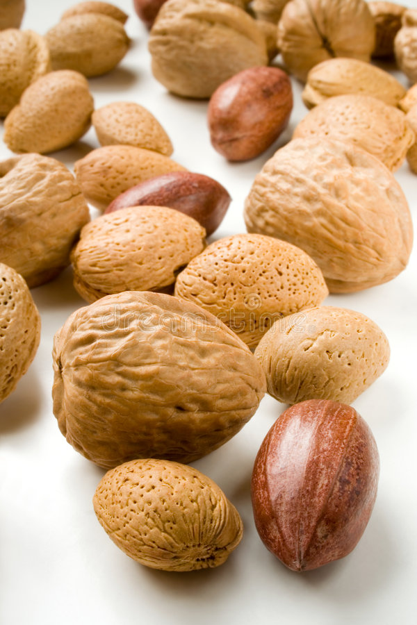 Assortment of nuts stock image