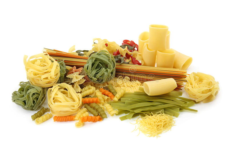 Assortment of pasta royalty free stock images