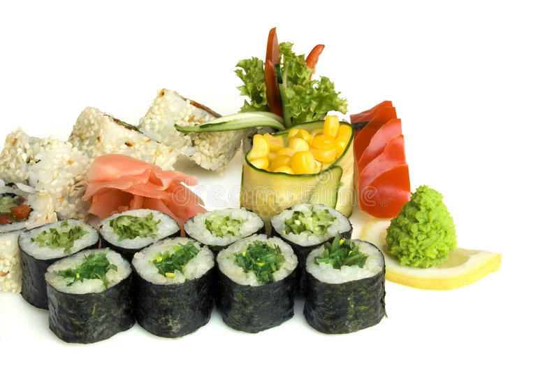 Assortment of sushi stock photos