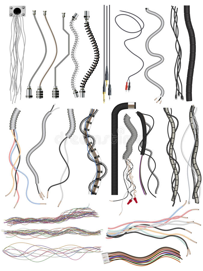 Assortment Of Wires Royalty Free Stock Images