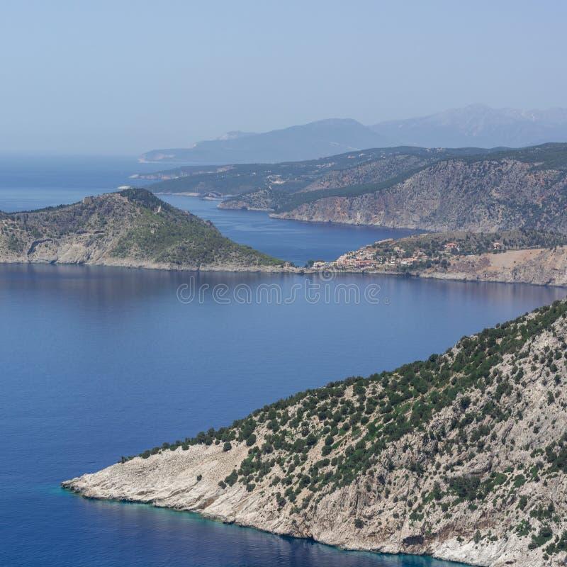 Assos στην απόσταση Kefalonia Ελλάδα στοκ φωτογραφίες με δικαίωμα ελεύθερης χρήσης