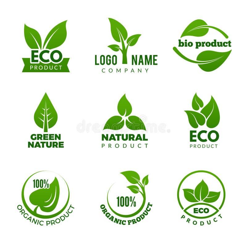 自然商标 E 向量例证