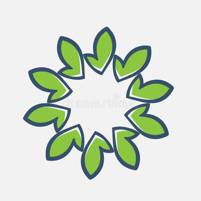Assosiated met de zomer Bloemenembleem Het pictogram van de bloem Floral Spa, Schoonheid salonemblem Schoonheidsmiddelen royalty-vrije illustratie