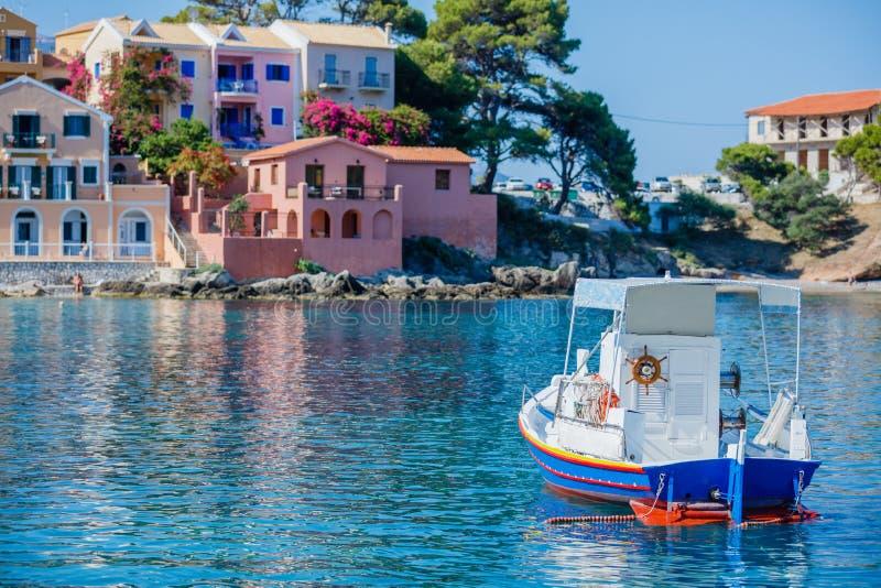 Assosstrand in Kefalonia, Griekenland royalty-vrije stock afbeeldingen