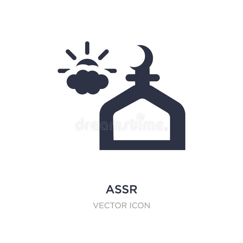 assrsymbol på vit bakgrund Enkel beståndsdelillustration från religionbegrepp royaltyfri illustrationer