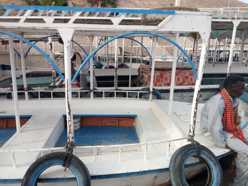 Assuan-Boote lizenzfreie stockbilder