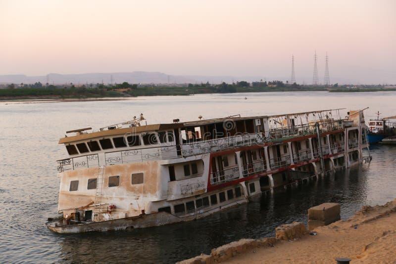 Assuan Nile River stockfotos