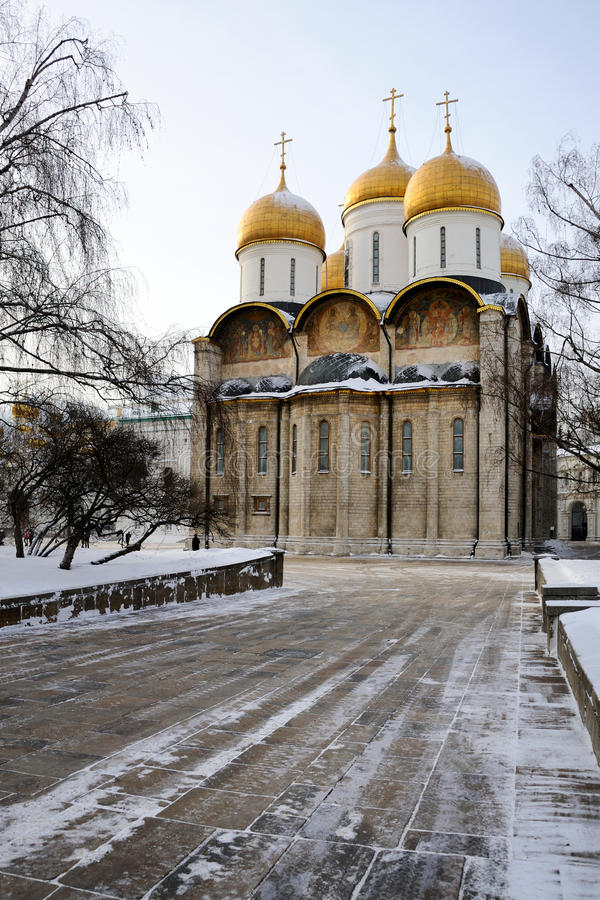 Download Assumption Cathedral Of Moscow Kremlin In A Cold Winter Day Stock  Image   Image Of