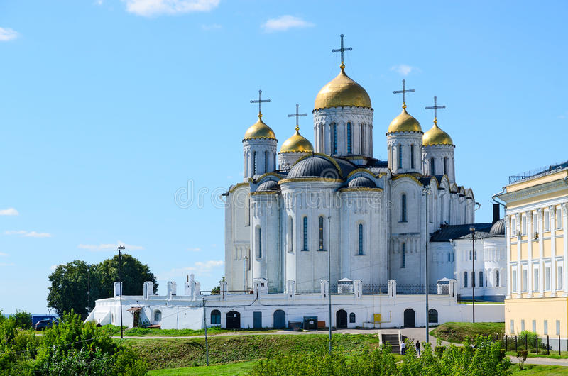 Assumption Cathedral, Vladimir, Golden Ring of Russia. Summer view of Assumption Cathedral, Vladimir, Golden Ring of Russia royalty free stock images