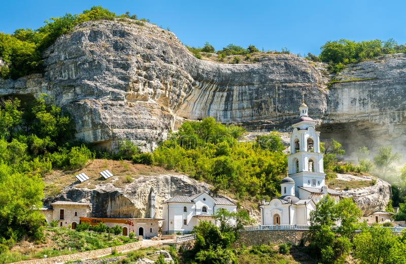 The Assumption Monastery of the Caves in Bakhchisarai, Crimea. The Assumption Monastery of the Caves in Bakhchisarai - Crimea, Europe royalty free stock photography