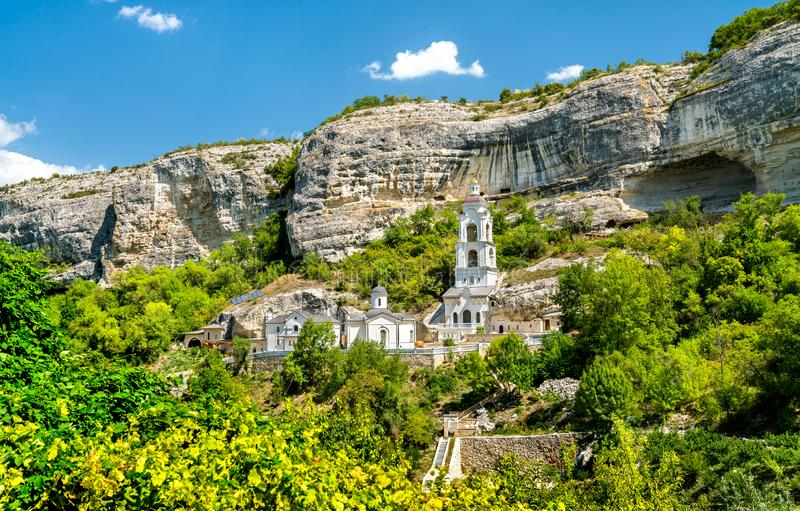 The Assumption Monastery of the Caves in Bakhchisarai, Crimea. The Assumption Monastery of the Caves in Bakhchisarai - Crimea, Europe stock photo