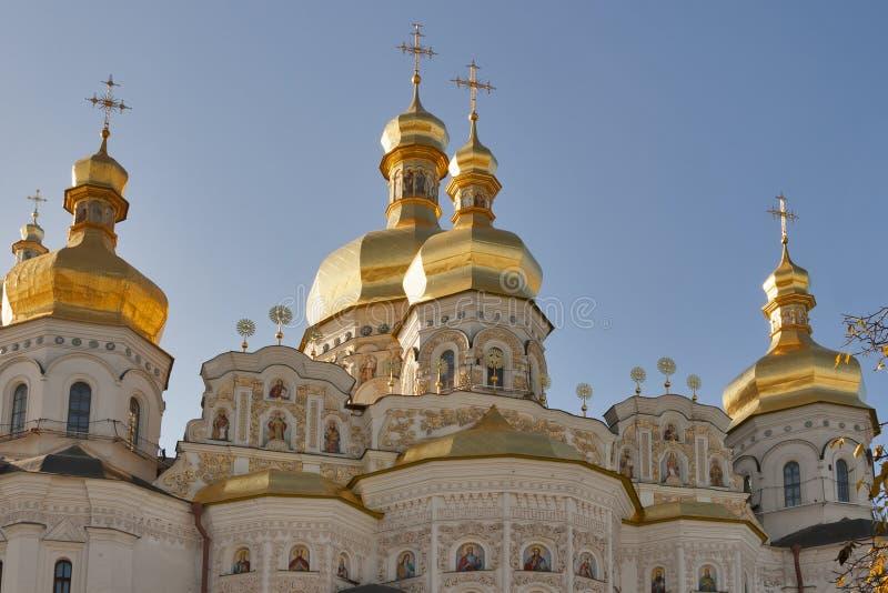 Assumption (Uspensky) temple in Pecherska Lavra, K royalty free stock photo