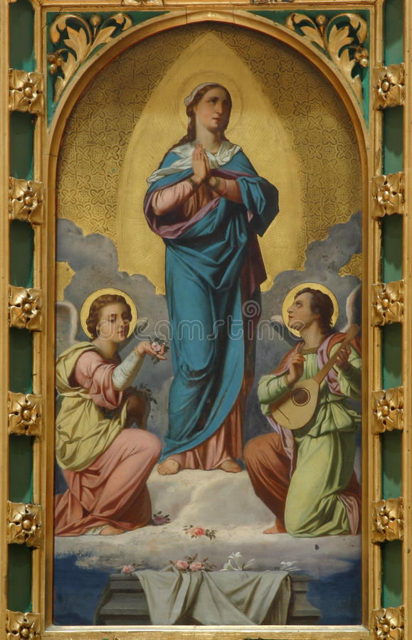 Assumption of the Virgin. Mary stock photography