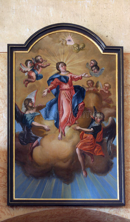 Assumption of the Virgin. Mary royalty free stock photos