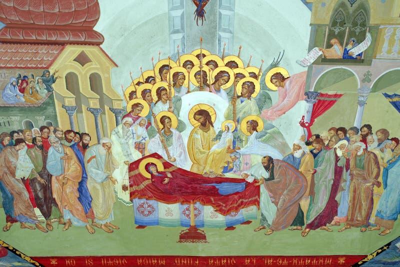 Orthodox church. Assumption of the Virgin Mary - Bujoreni Monastery, landmark attraction in Romania royalty free stock photos