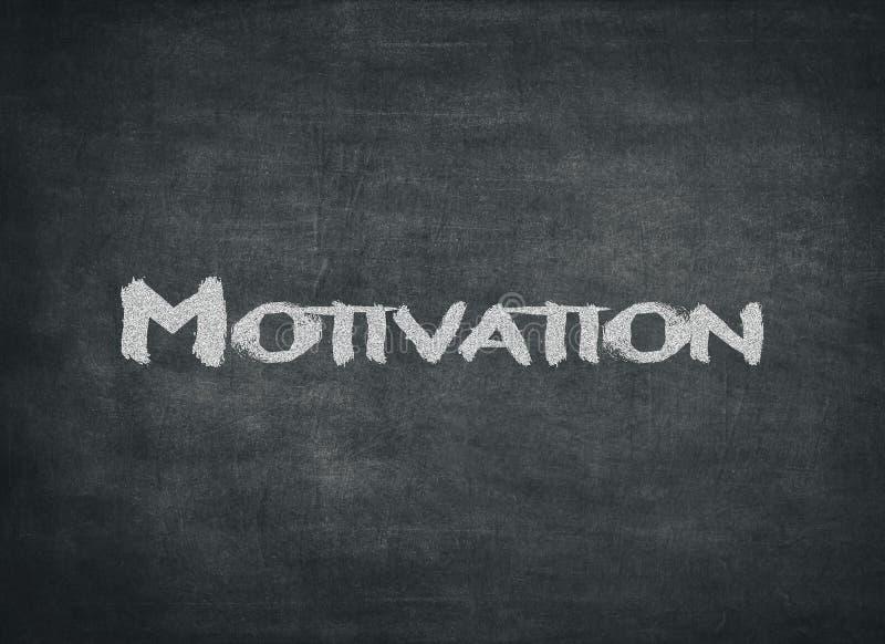 Assunto da motivação, escrito à mão com giz fotos de stock royalty free