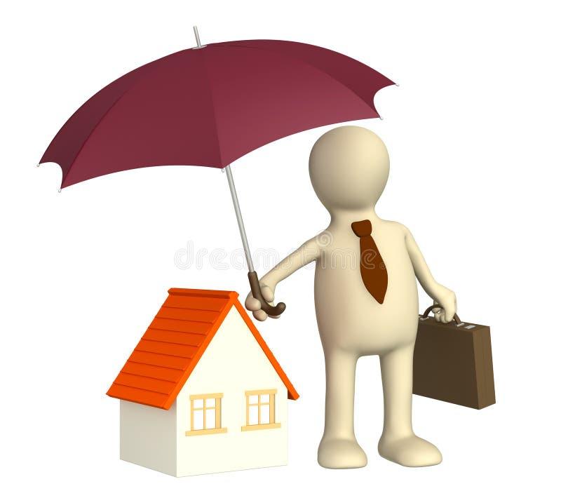 assurance à la maison illustration stock