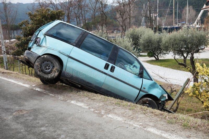 Assurance, accident de véhicule image stock