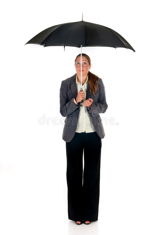 Download Assurance agent umbrella stock photo. Image of businesswoman - 10835090