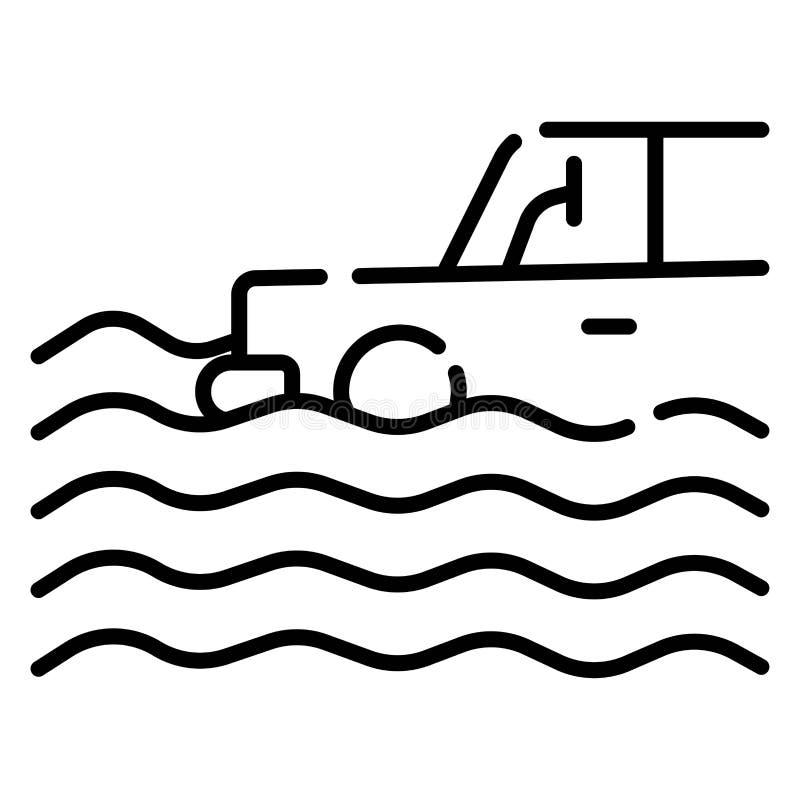 Assurance auto et risque d'inondation illustration de vecteur