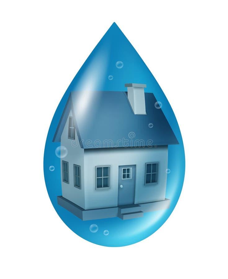 Assurance contre l'inondation illustration stock