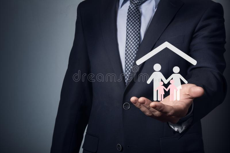 Assurance de famille et d'immobiliers images libres de droits
