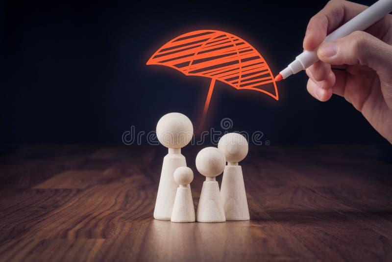 Assurance de vie de famille photo libre de droits