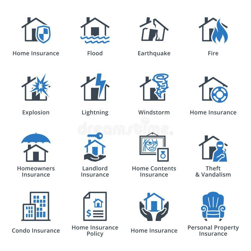 Assurance des biens - série bleue illustration de vecteur