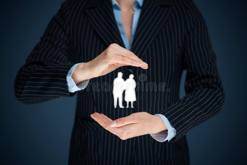 Assurance et aînés de pension photographie stock