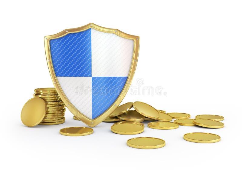 Assurance et concept financiers de stabilité d'affaires illustration libre de droits