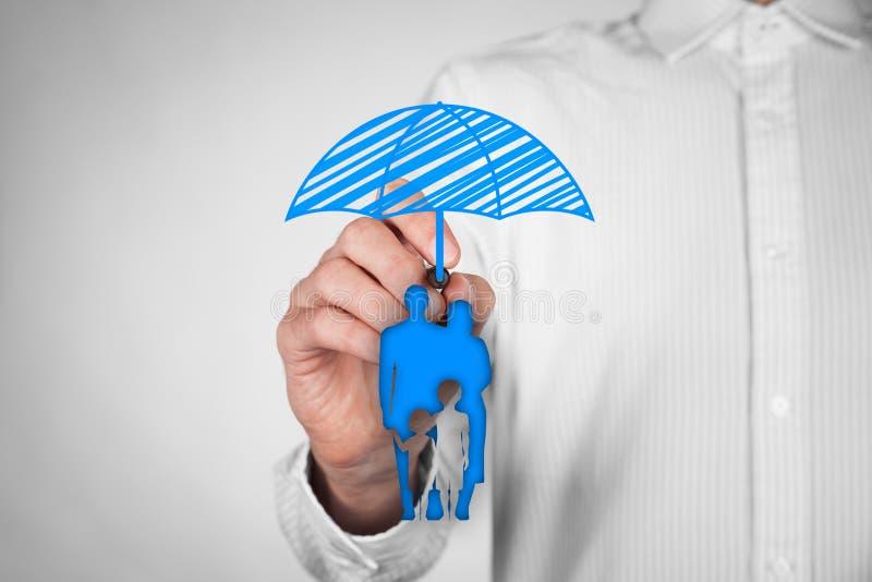 Assurance et politique de vie de famille image libre de droits