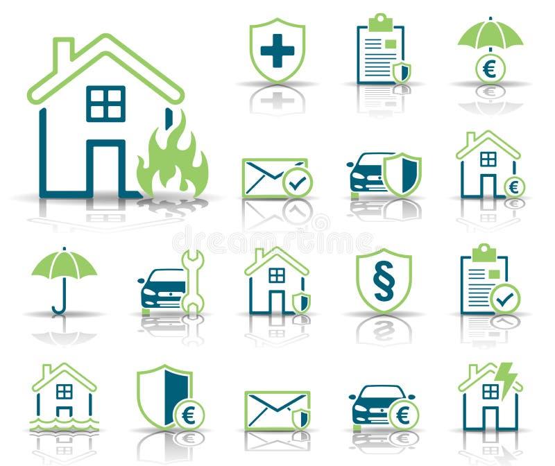 Assurance et protection - Iconset - icônes illustration libre de droits