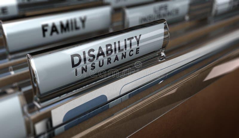 Assurance invalidité  illustration libre de droits