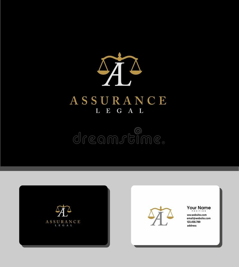 Assurance legal logo royalty free stock photo