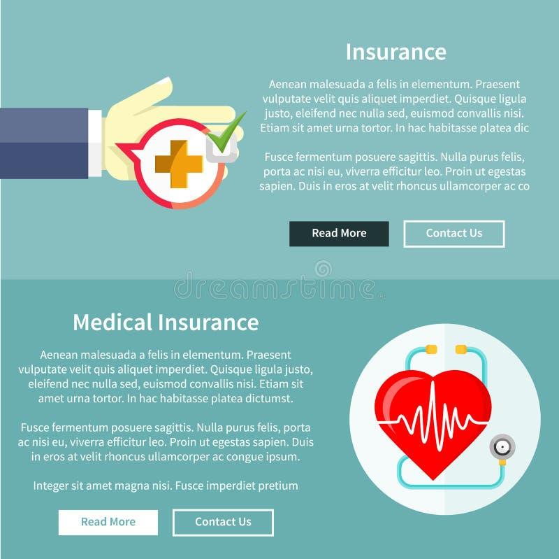 Assurance médicale médicale et maladie illustration stock