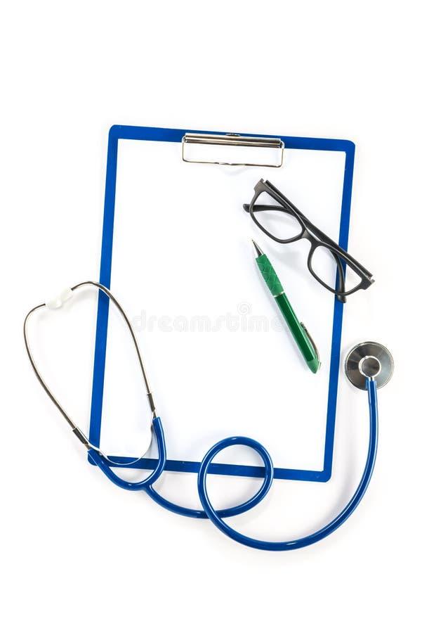 Assurance-maladie et concept de soins de santé, verres de presse-papiers et photos libres de droits