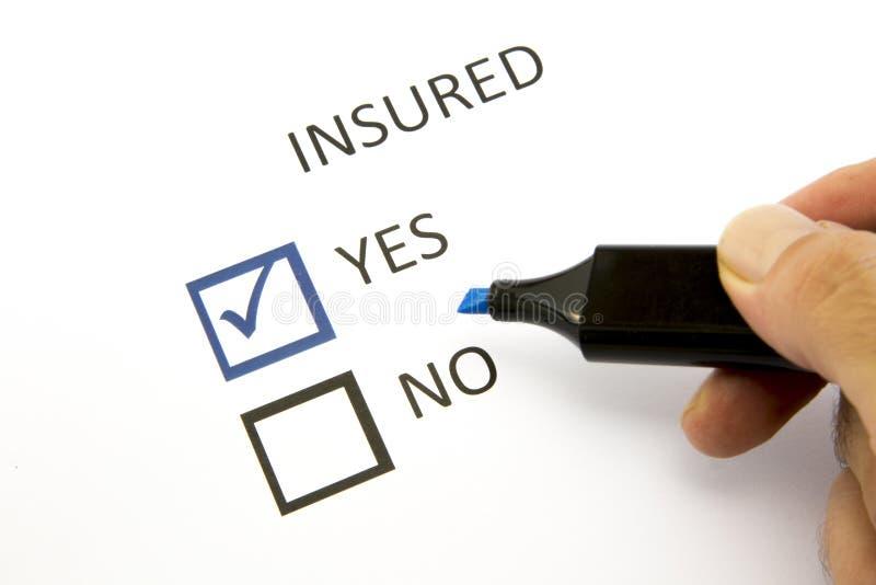 Assurance ou risque photos stock