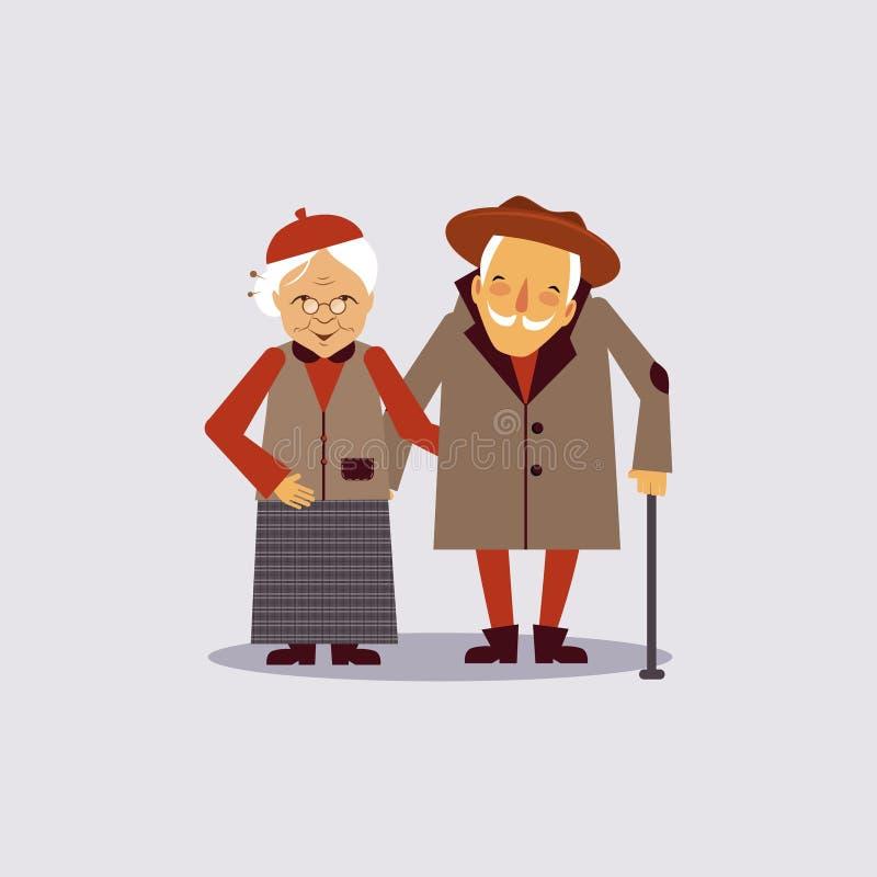 Assurance pour âgé illustration de vecteur