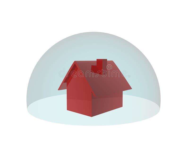 Assurance pour la maison illustration de vecteur